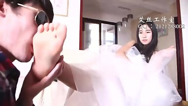 Chinese mistress foot worship