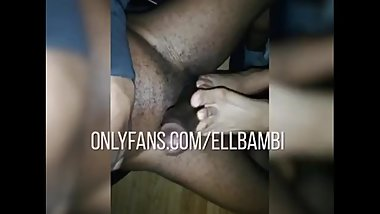 BBC Footjob. Watch full video on onlyfans