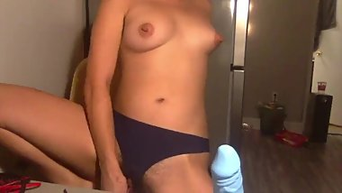 dildo riding on cam
