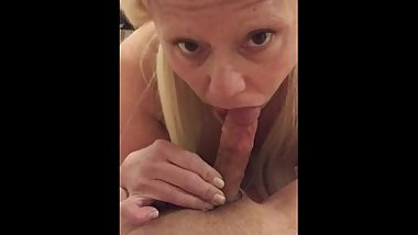 Barbie Blaze gives deep throat Blow job