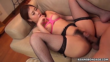 Submissive brunette, Yui Shiina got banged from behind