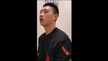 Handsome Chinese pissing