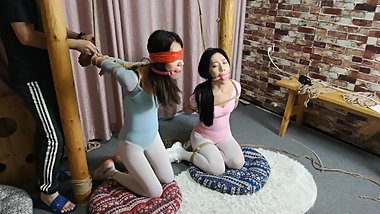 Double gymnastics suit (asian-bondage. com)