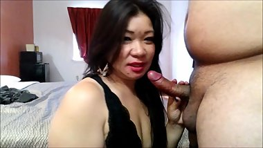 Asian lost bet now has to suck and fuck boyfriends best friend