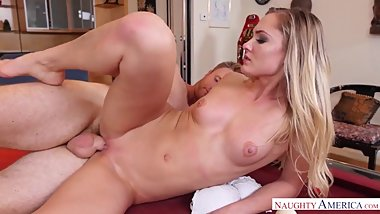 Naughty America Avalon Heart fucking in the pool table