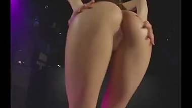 Japanese girl dancing naked