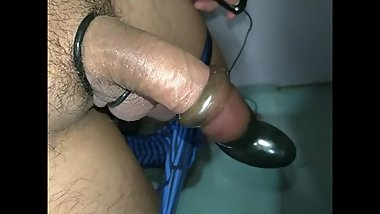 Asian Male Vibrator Quick Orgasm and Moans