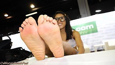 Small hot asian feet