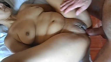 Mature asian Nene, have sex in both holes - Fanou