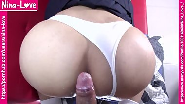 Japanese schoolgirl uniform - POV doggystyle - Tight pussy penetrated