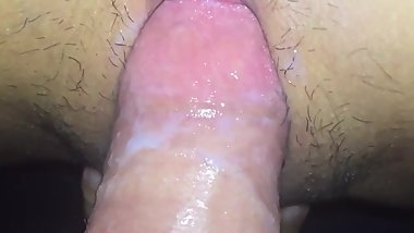 Sexy Asian girlfriend riding and creaming on thick cock