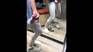 cumshot in shopping mall, part two
