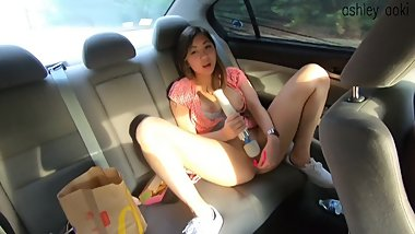 Ashley Aoki Masturbates In the Car- MODELHUB VID PREVIEW