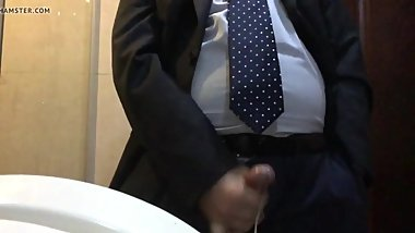 China daddy  Honey in office toliet