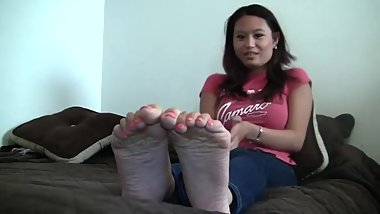 Asian Talking About Her Feet