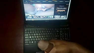 Jerking off to step mom's lesbian porn video Solo male complication