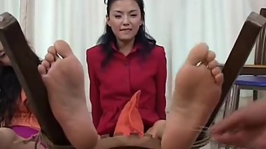 Asian feet tickle