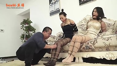 2 chinese girl bondage and gagged
