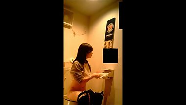 Hidden Asian public WC cam 2